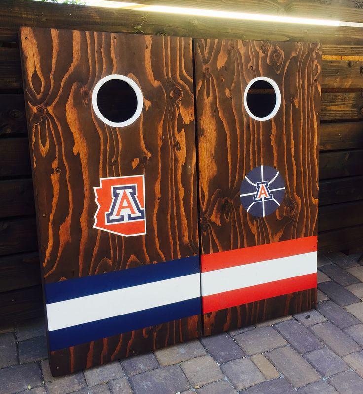Arizona Wildcats cornhole boards