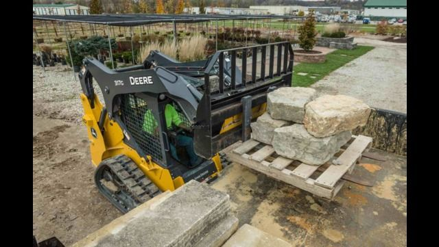 John Deere is introducing four Final Tier 4 G-Series skid steers (312GR, 314G, 316GR, 318G) and one compact track loader (317G).
