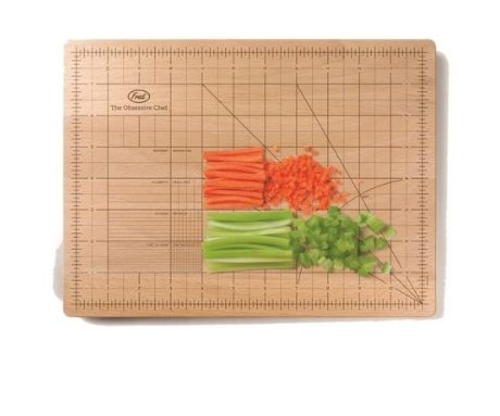 Obsessive Chef Chopping Board via culturelabel.com  I'd buy this for my Dad simply because he has an obsession with dicing veg into minute pieces.