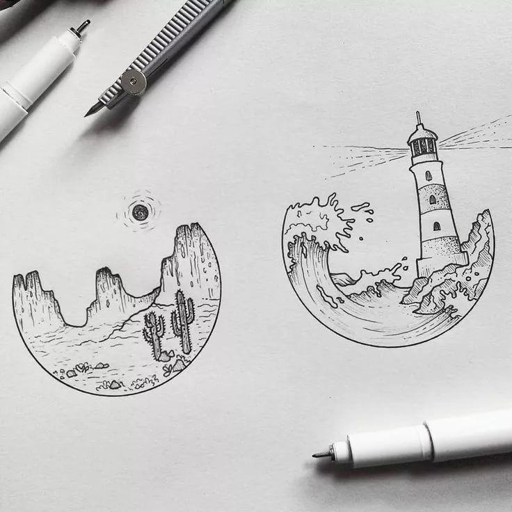 Картинки для срисовки ручкой