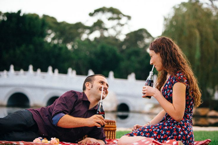 Vintage Picnic Engagement Session at Nurrangingy Reserve, Blacktown http://tailoredfitphotography.com/engagement-photography/retro-engagement-photos-60s-skylight-drive-in-nurrangingy-reserve-blacktown/