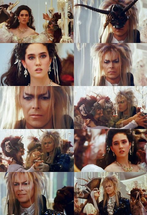 Labyrinth, Jareth and Sarah in a freaky dream sequence. My favorite part in the movie. (um, hello. everyone's favorite part, yo. --akb)