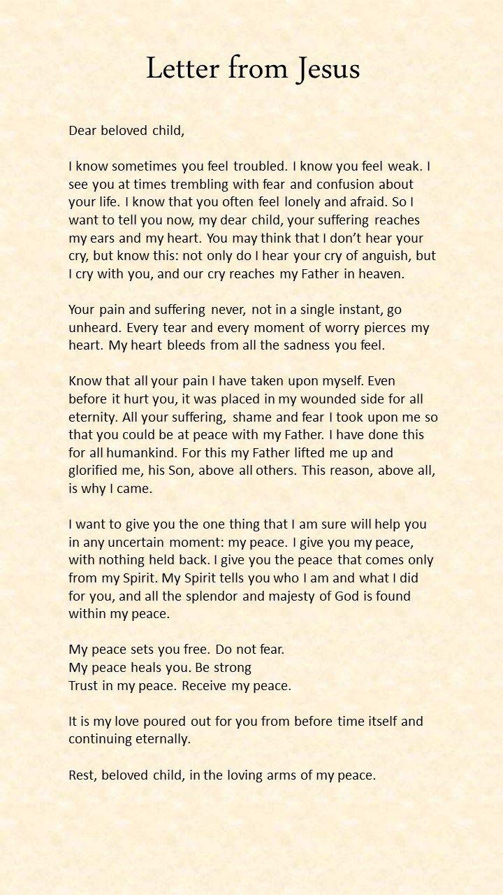 Brief van Jezus, Dit is zo waar