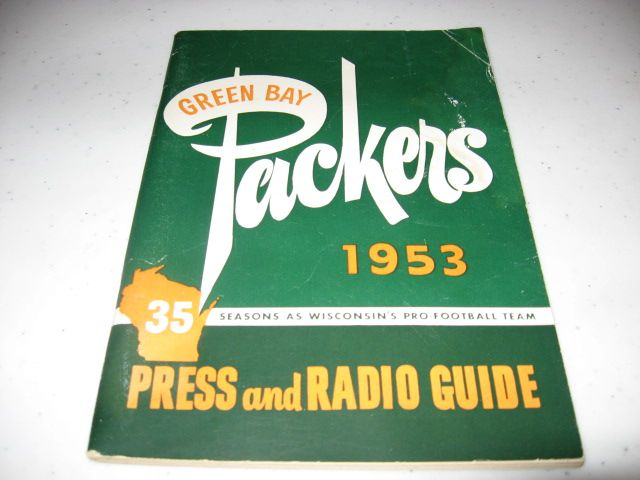1953 Green Bay Packers Press & Radio Guide. #packers #nfl #vintage