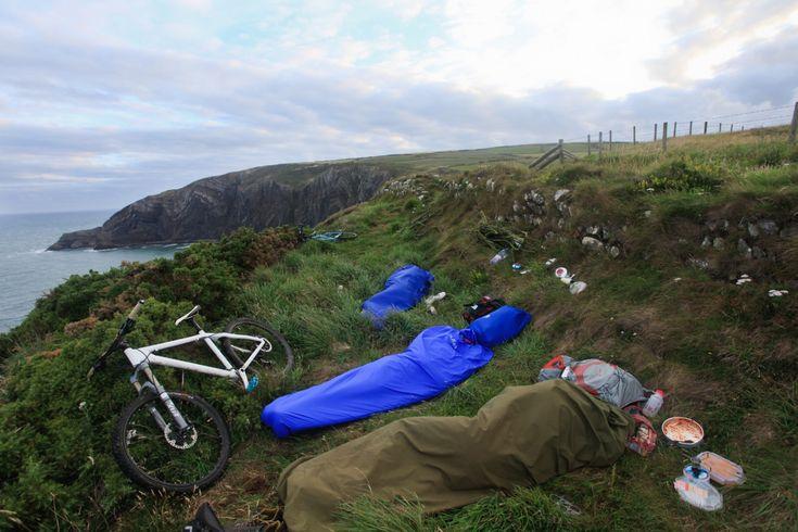 bivvy microadventure cliffs pembrokeshire bike
