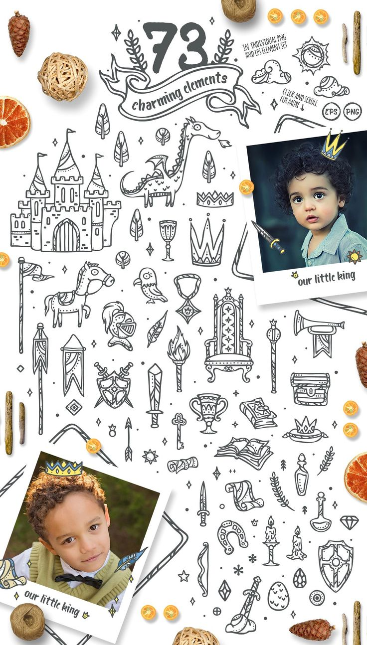 50%OFF Little King - Boys GraphicKit by Euonia Meraki on @creativemarket  Discount extended until 4 Oct 2017! Don't miss it! :D