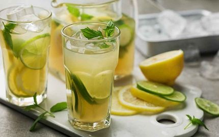 Iste med grönt te och citron