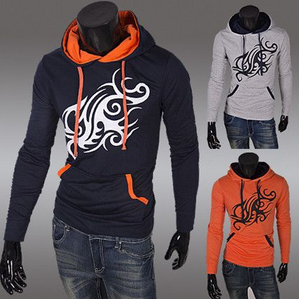 Tattoo Print Fashion Men Pullover Hoodie | Sneak Outfitters