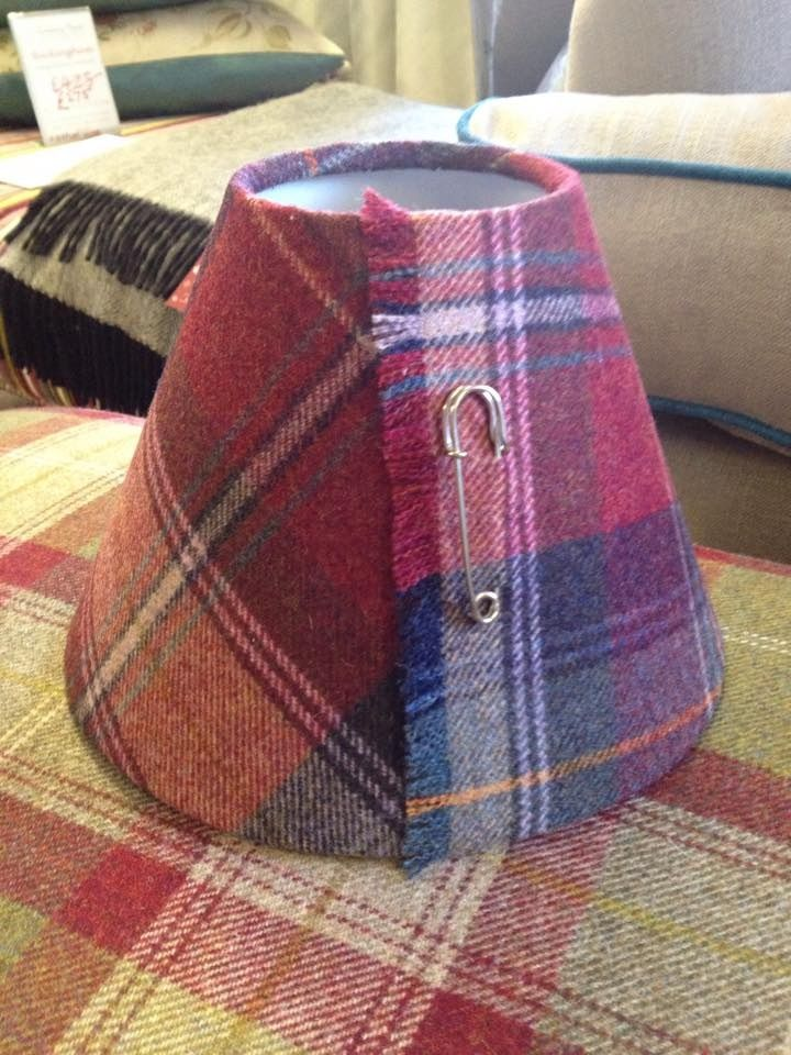 Tartan lampshades - made to order - any fabric, shape and size....call in and see us for more information - West Bridgford and Southwell...