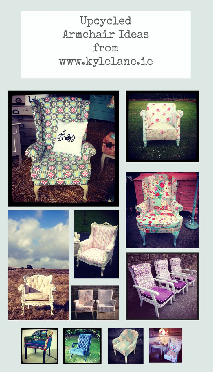 Upcycled armchair ideas #upcycledarmchair #quirky #funkyarmchair #upcycledfurniture