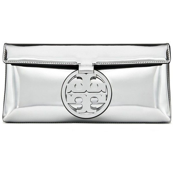 ecdd581ce3e3 Tory Burch Miller Metallic Clutch ( 248) ❤ liked on Polyvore featuring bags