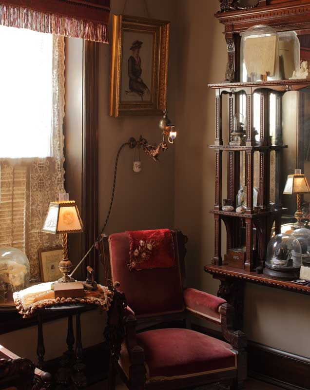 authentic gaslights in a capitol hill victorian reading chairs chairs and victorian. Black Bedroom Furniture Sets. Home Design Ideas