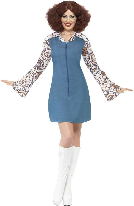 Ladies Groovy Dancer 60s 70s Retro Hippy Disco Fancy Dress Costume 35532 in Clothes, Shoes & Accessories, Fancy Dress & Period Costume, Fancy Dress   eBay