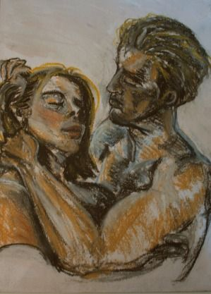 SHADES OF LOVE BY: LILAV SAAID 20CM X 29CM X 0CMPastel on Other, $160 A small but beautiful piece expressing love between a couple.