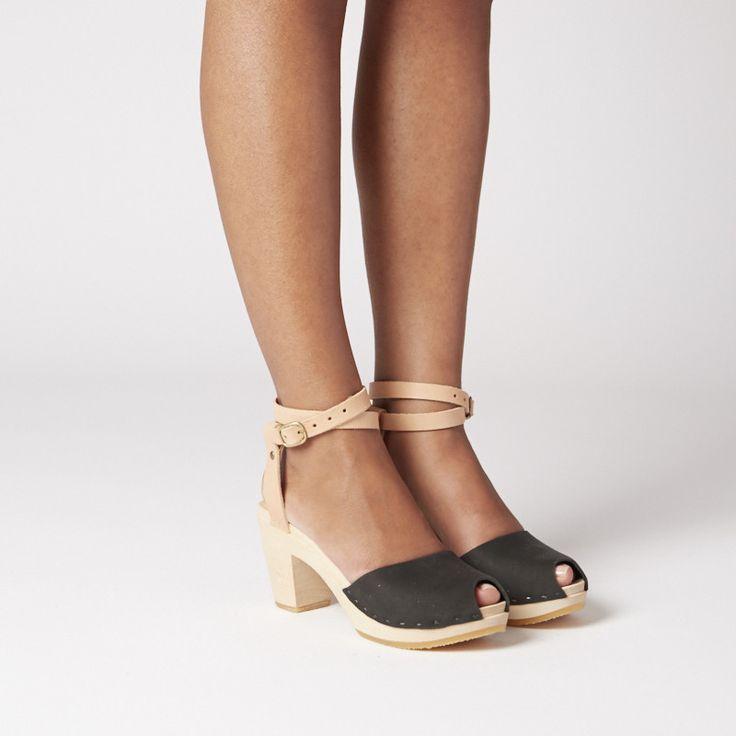 Color-block Annabelle Peep, High Heel
