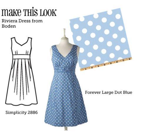 (Via MTL: Riviera Vestido de Boden - O Blog Sew Weekly Costura e Comunidade Moda Vintage)