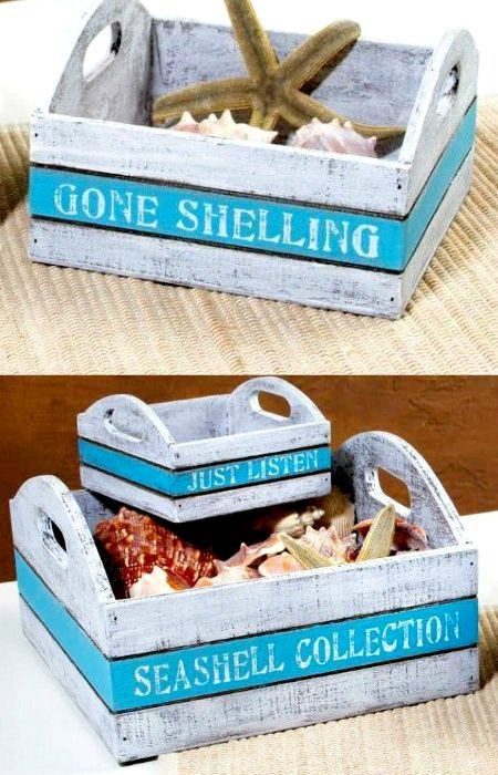 Wood Trays|Boxes with Beach Sayings. Shop or use as a DIY idea! http://ocean-beach-quotes.blogspot.com/2015/08/beach-serving-trays-nesting-boxes-organizers.html