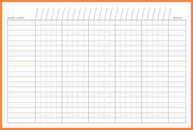 25 Lovely Blank Spreadsheet Template Printable in 2020