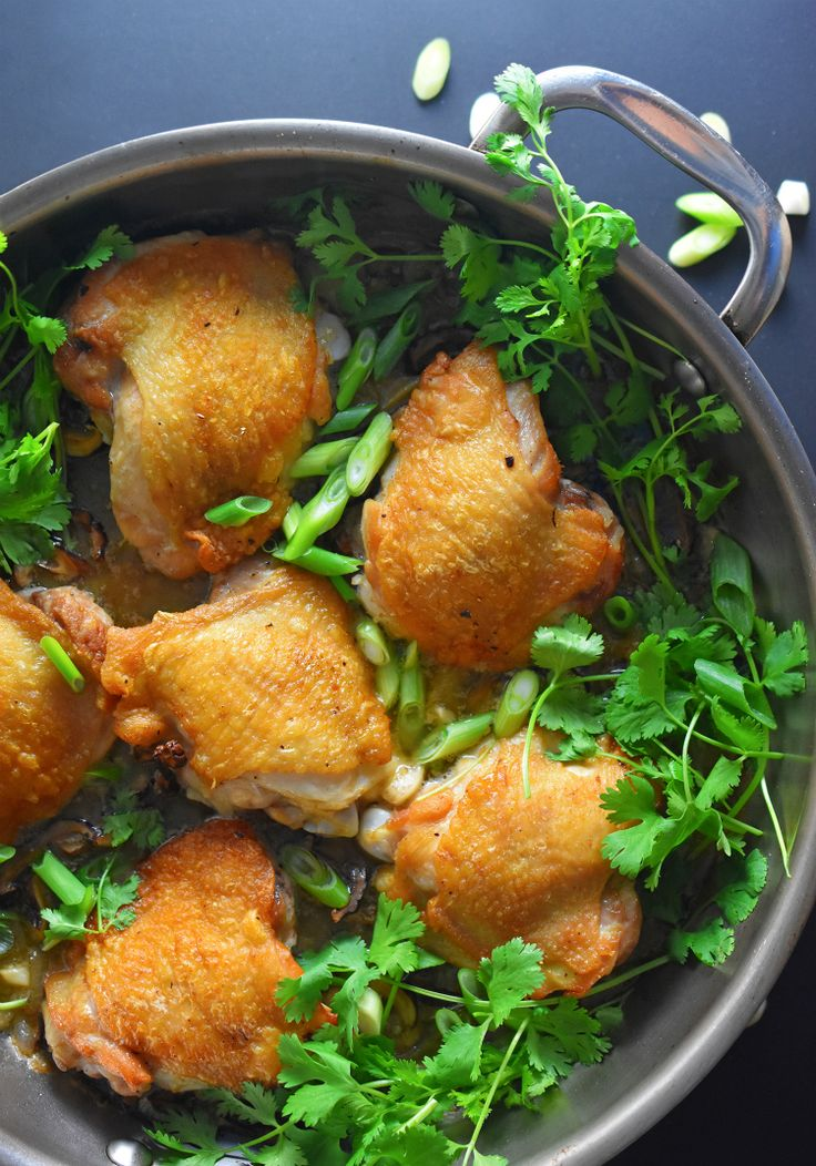 Cantonese Crispy Chicken Thighs by Michelle Tam http://nomnompaleo.com