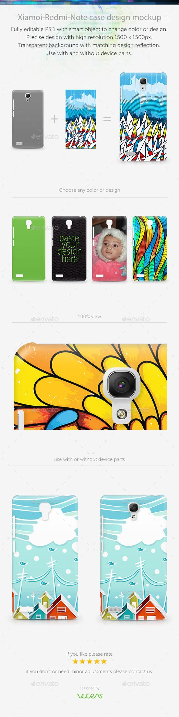 XiamoiRedMiNote Case Design Mockup — Photoshop PSD #mobile #imd case • Available here → https://graphicriver.net/item/xiamoiredminote-case-design-mockup/10565380?ref=pxcr