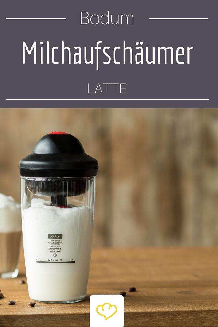 Luftig-leichter Milchschaum für Cappuccino, Latte Macchiato und Co. genau wie im Lieblingscafé – mit dem elektrischen Milchschäumer Bodum Latte aus dem Hause Bodum kein Problem. Gibt's in 4 Farben.