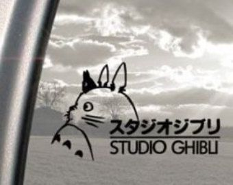 Totoro Studio Ghibli décalque, voiture, ordinateur portable, fenêtre