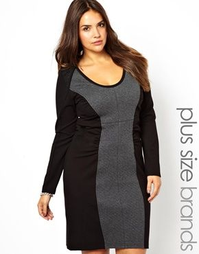 Carmakoma Bodycon Dress With Contrast Side Panels