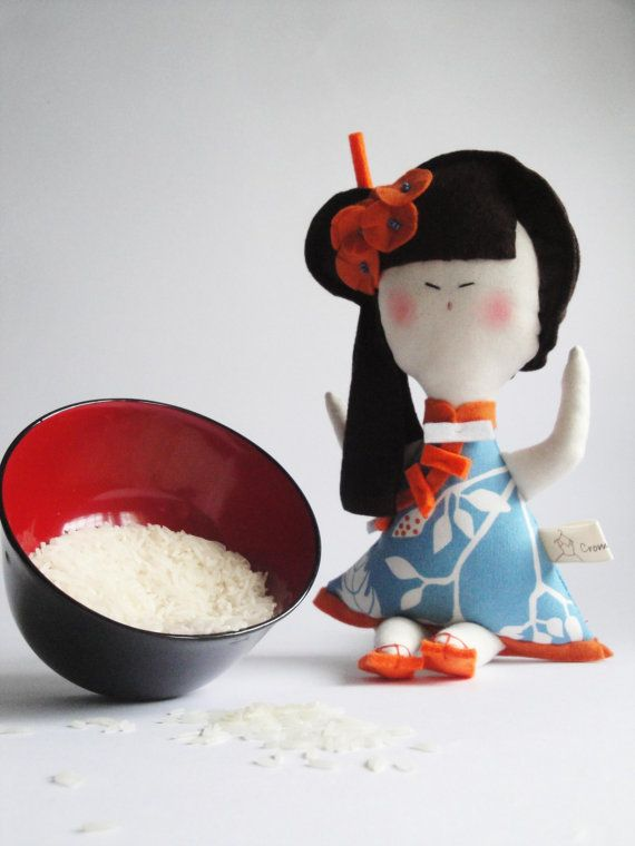 Chinese DOLL with fortune COOKIE Limited by Cromanticamente, $48.00