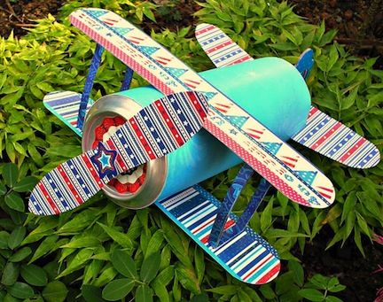 A patriotic can plane? This has to be the coolest craft I've seen yet! Brought to you by Shoplet.com - everything for your business.