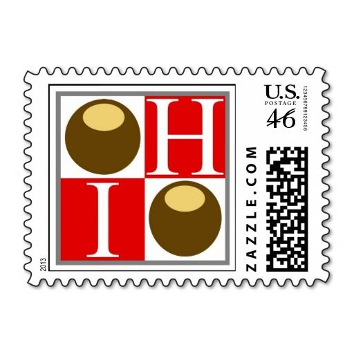 State of Ohio Buckeye Nut Postage Stamp - Time to mail those Christmas cards! $5 off on ZAZZLE with code: BLKFRIZAZZLE