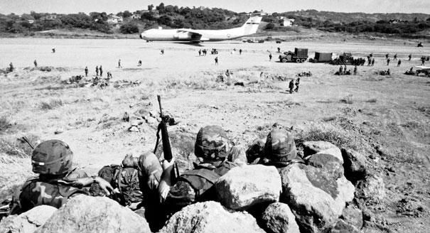 the u s invasion of grenada An american invasion force of 2,000 marines and paratroopers, which landed in grenada yesterday with 300 troops from six caribbean countries, was britain refused an appeal from the caribbean countries to take part in the invasion and mrs thatcher tried to persuade mr reagan to drop the plan.