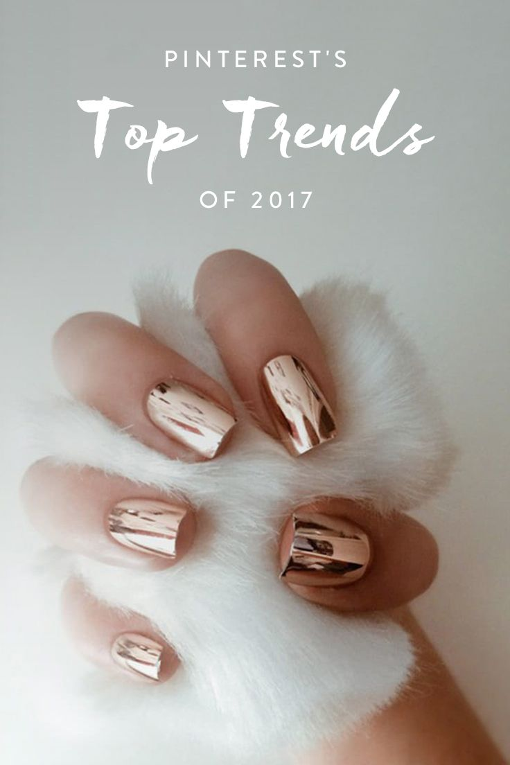 Nail Trends 2018 Long: Best 25+ Metallic Nails Ideas On Pinterest