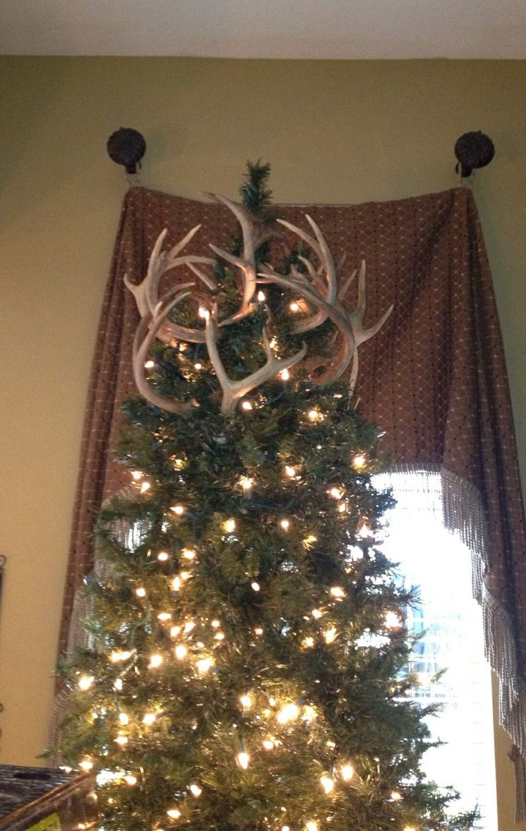 antler tree topper i knew they would come in handy one day cabin christmaschristmas tree toppersrustic christmas tree skirtsantler - Rustic Christmas Tree Skirt