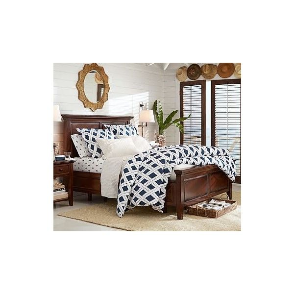 pottery barn hudson wood storage bed with drawers liked on polyvore featuring home furniture beds full size wood bed full size platform - Storage Beds Full