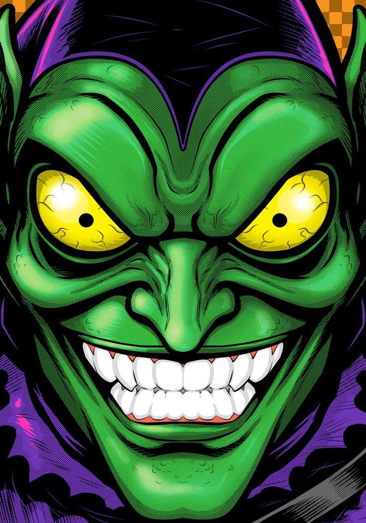 Green Goblin Portrait Commission by Thuddleston.deviantart.com on @deviantART