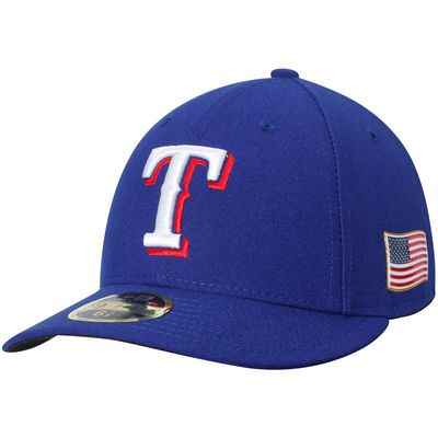 Texas Rangers New Era Authentic Collection On-Field 59FIFTY Low Profile Flex Hat with 9/11 Side Patch - Royal