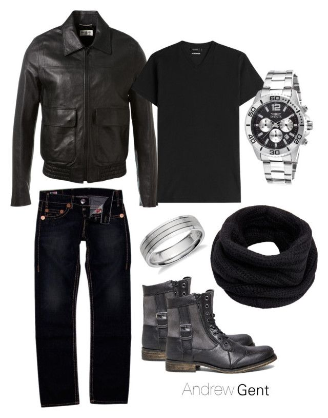 """rocker option"" by andres-aldana-ad on Polyvore featuring Yves Saint Laurent, True Religion, Jil Sander, Steve Madden, Invicta, Helmut Lang and Blue Nile"