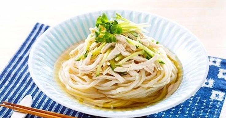 【夏休みランチレシピ】蒸し鶏ときゅうりのぶっかけうどん - 暮らしニスタ
