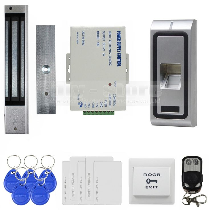 109.02$  Buy now - http://alil9u.worldwells.pw/go.php?t=2040356631 - DIYSECUR Fingerprint 125KHz RFID Card Reader Metal Case Door Access Control System Kit + 280kg Magnetic Lock + Remote Control 109.02$