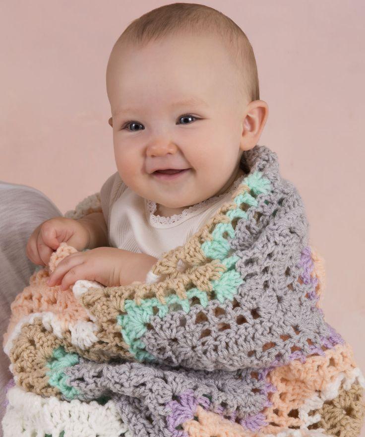 Sheer Comfort Blanket #baby #classic #redheartyarns # ...