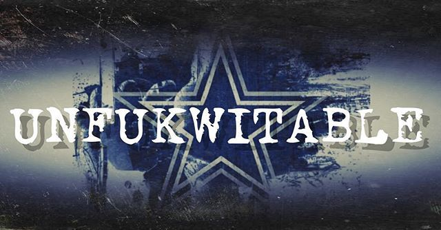 "#unfukwitable s new cover picture for January went up early.... I couldnt wait to ""throw it up"" ;) come check it out at www.facebook.com/unfkwtblyme #dallascowboys #numberone #playoffs #nfl #gocowboys #wedemboyz #unfukwitablemade"