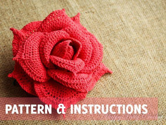 Free Crochet Rose Petal Pattern : 17 Best ideas about Crochet Rose Patterns on Pinterest ...