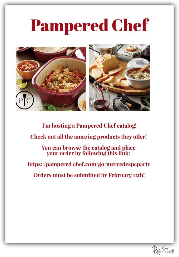 Pampered Chef Catalog Party!! Follow link...
