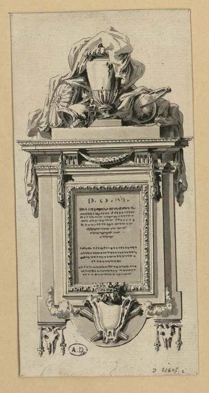 [Projet de plaque funéraire] | Les Arts décoratifs