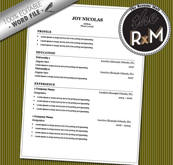 Resume Template With Photo 8 Best Images About $1 Resume Templates On Pinterest  Colors For