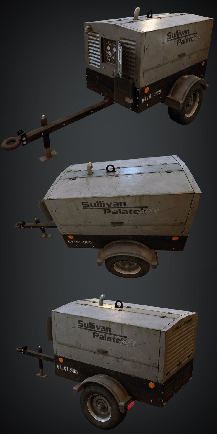 Generator prop rendered in UE4, Israel Pargas on ArtStation at https://artstation.com/artwork/props-rendered-in-ue4