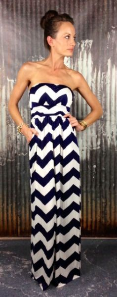 Navy Chevron Maxi Dress.... can't wait for summer!!!!!!!!!!!!!!!!!!!!