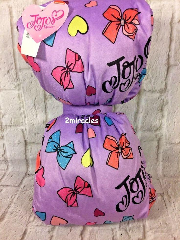 JoJo Siwa Dream Crazy Big Soft Purple Bow Decorative Bed Pillow Dance Moms NWT #Nickelodeon