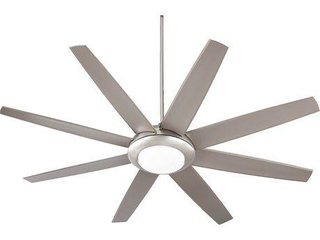 Quorum International Modesto Satin Nickel Two-Light 70'' Wide Indoor Ceiling Fan