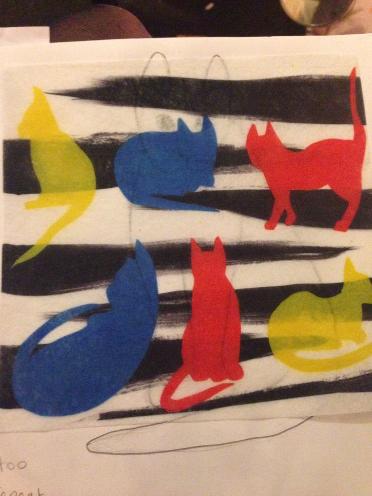 Fabric printing, disperse dye. #catprints